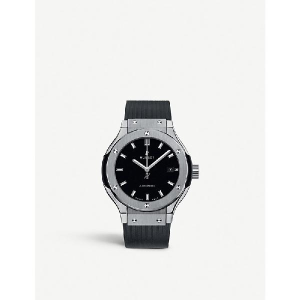 Hublot Classic Fusion 582.nx.1170.rx Titanium Watch In Black