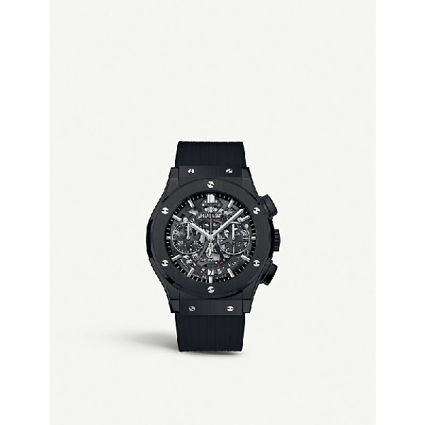 Hublot 525.cm.0170.rx Classic Aerofusion Ceramic Watch In Black