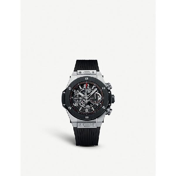 Hublot 411.nm.1170.rx Big Bang Unico Titanium Ceramic Watch In Black