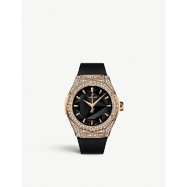 Hublot 550.os.1800.rx.1604.orl19 Orlinksi Classic Fusion 18ct King-gold And Diamond Watch