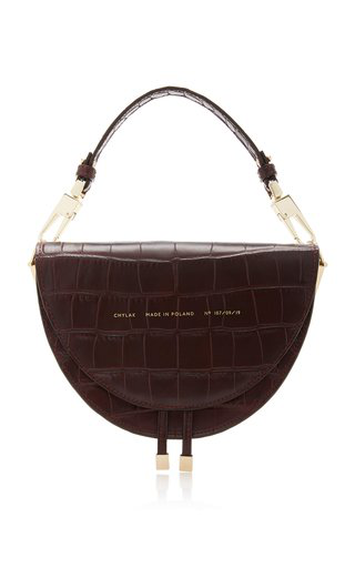 Chylak Croc-effect Leather Shoulder Bag In Purple
