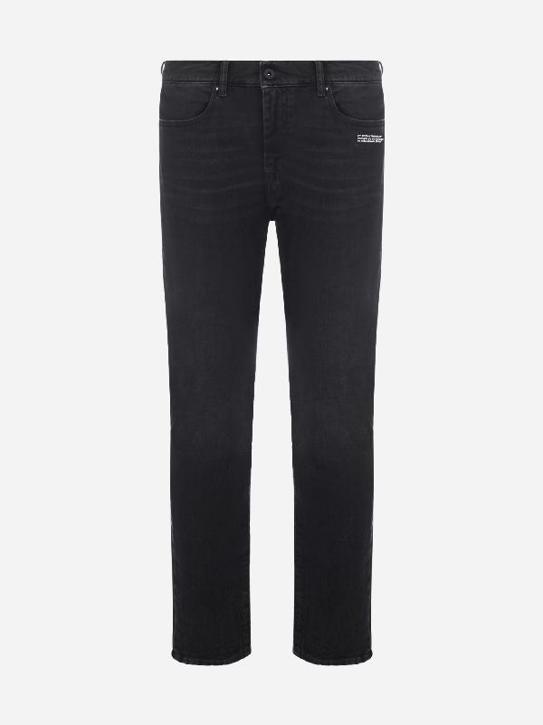 Off-white Off White Slim Fit Denim Pants In Black