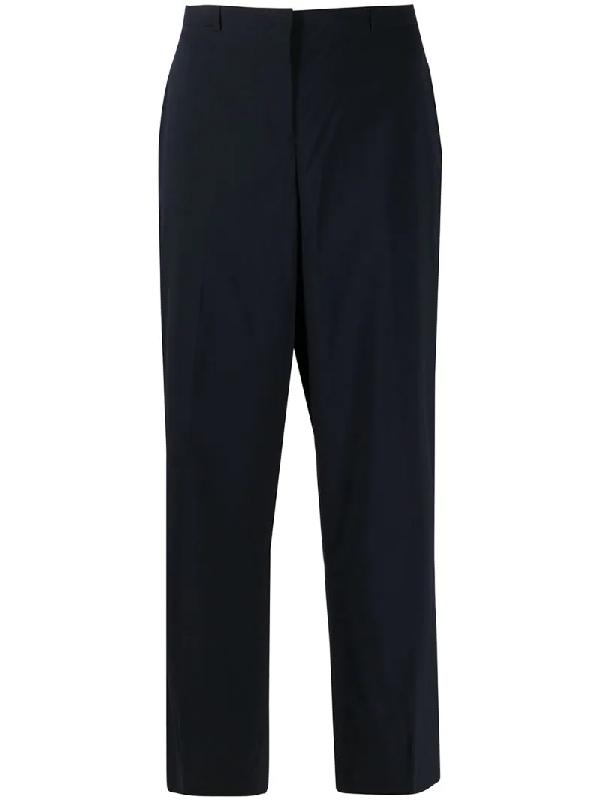Jil Sander 1990s Decor-pleat Tailored Trousers In Blue