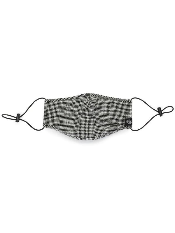 Mostly Heard Rarely Seen Gingham Print Face Mask In Black