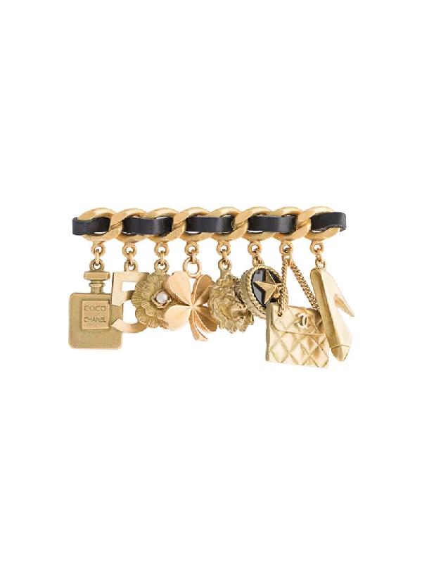 Chanel 1994 Cc Logo Brooch In Gold