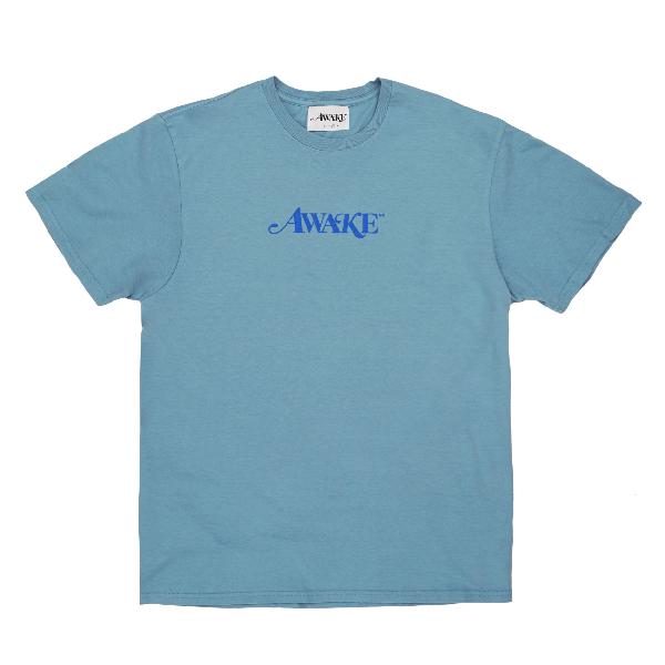 Awake Classic Logo Tee Washed Blue