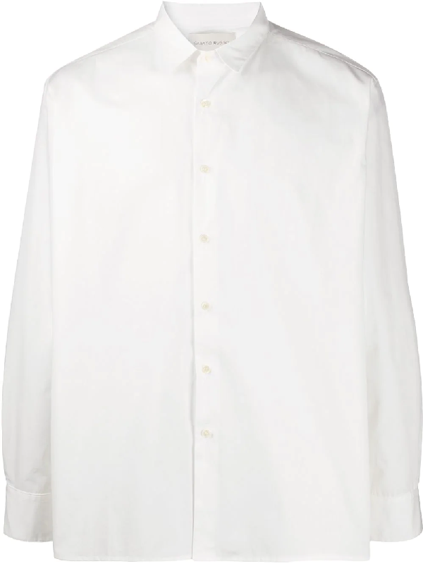 Sartorial Monk Oversized Long-sleeve Shirt In White