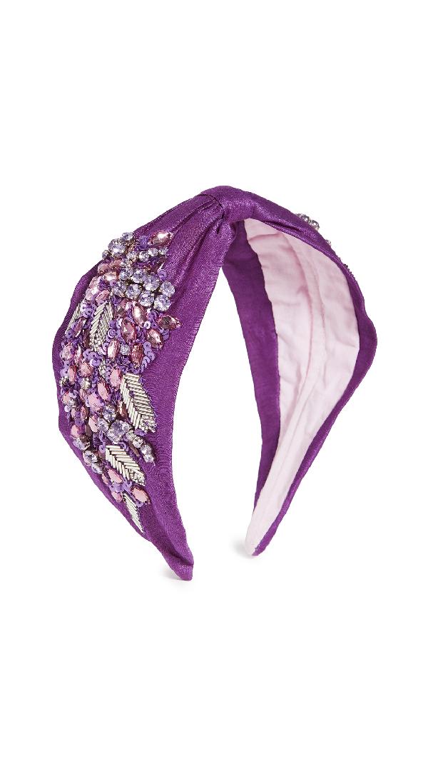 Namjosh Purple Embellished Headband
