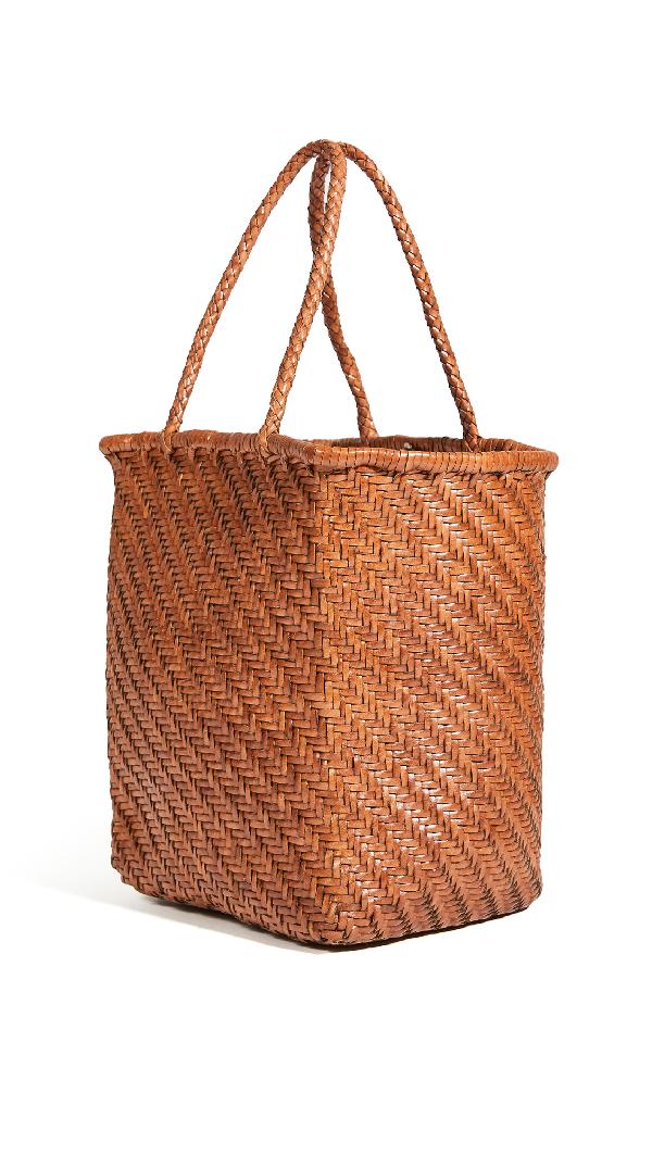 Dragon Diffusion Kamakura Small Basket Bag In British Tan