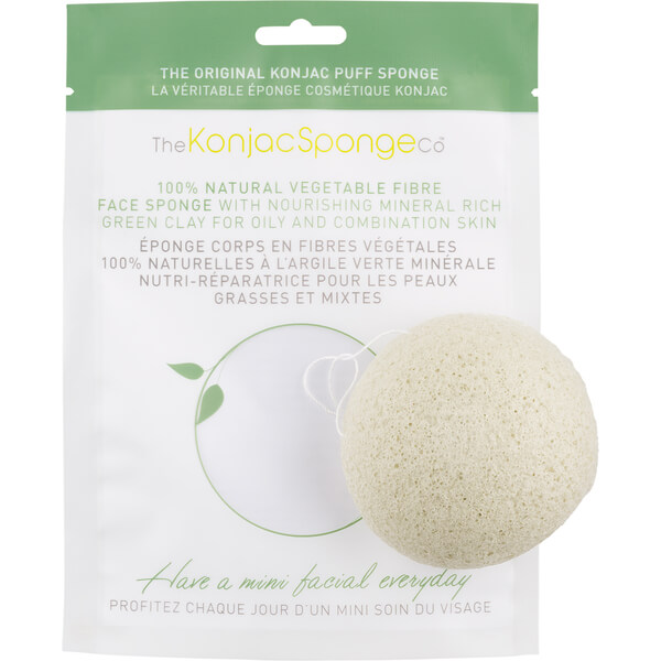 The Konjac Sponge Company Facial Puff Sponge With French Green Clay