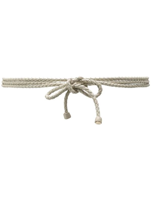 Bottega Veneta 2000s Woven Belt In White