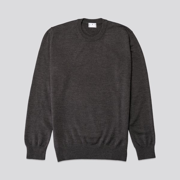 Asket The Merino Sweater Charcoal Melange