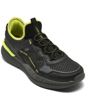 Creative Recreation Men's Ontario Casual Athletic Sneakers From Finish Line In Black, Gray, Volt