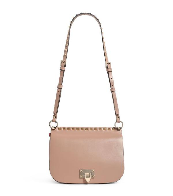 Valentino Garavani Leather Rockstud Saddle Bag