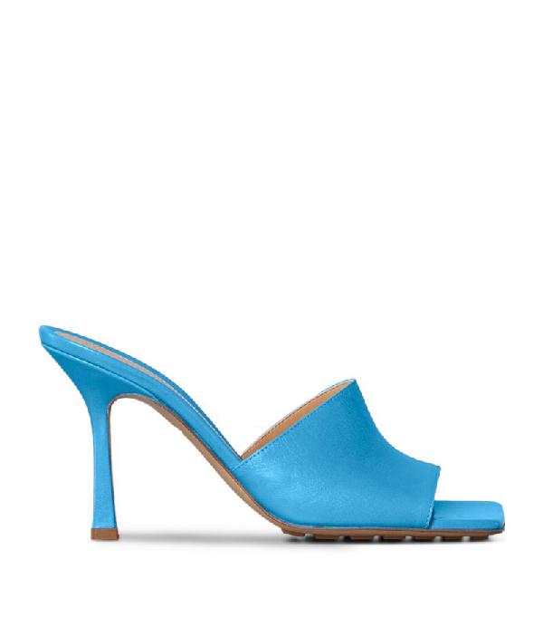 Bottega Veneta Stretch Leather Slide Sandals In Blue