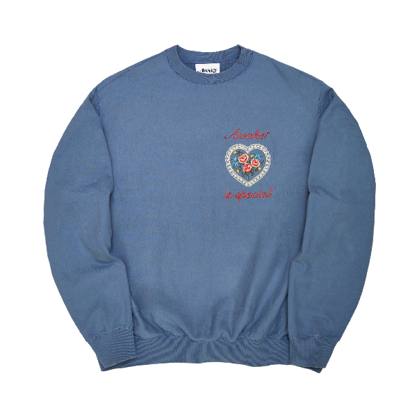 Awake Is Special Crewneck Sweatshirt Steel Blue