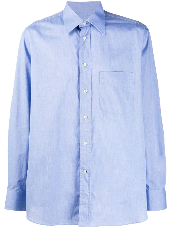 Dior 2000s Pre-owned Button-up Shirt In Blue