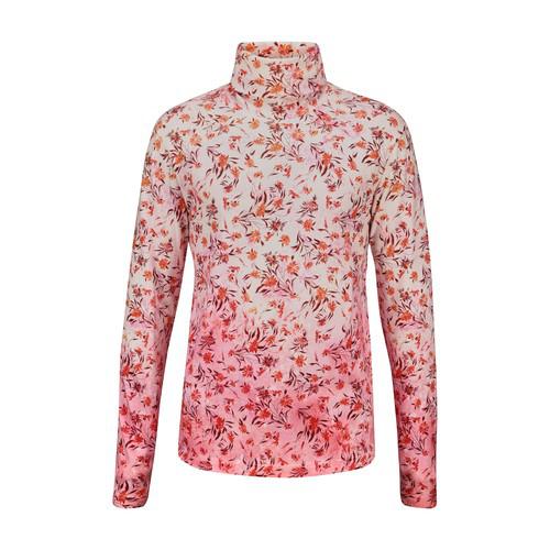 Acne Studios Floral-print DÉgradÉ Cotton Rollneck T-shirt In Rustorange