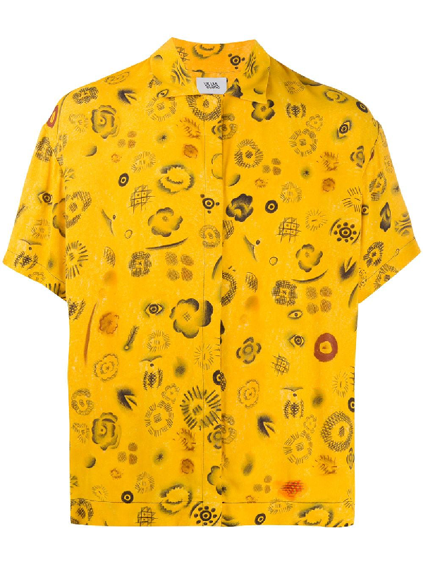 Vejas Graphic-print Short-sleeved Shirt In Yellow