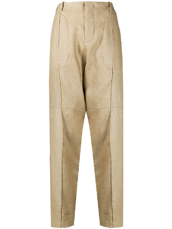 Vejas Tailored Chino Trousers In Neutrals