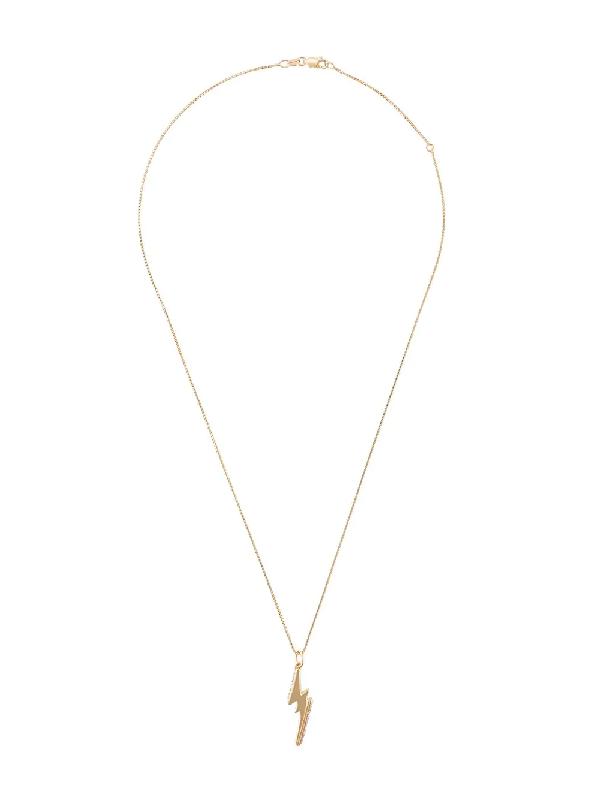 Rachel Jackson Gemstone-embellished Lightning Bolt Necklace In Gold