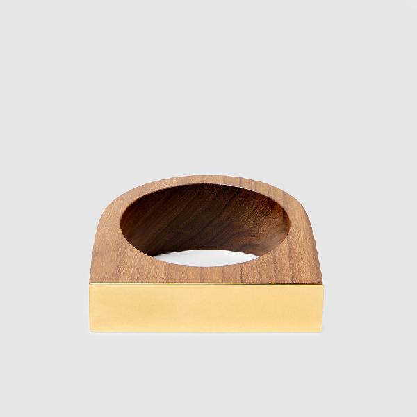 Marni Wood And Gold-tone Cuff M