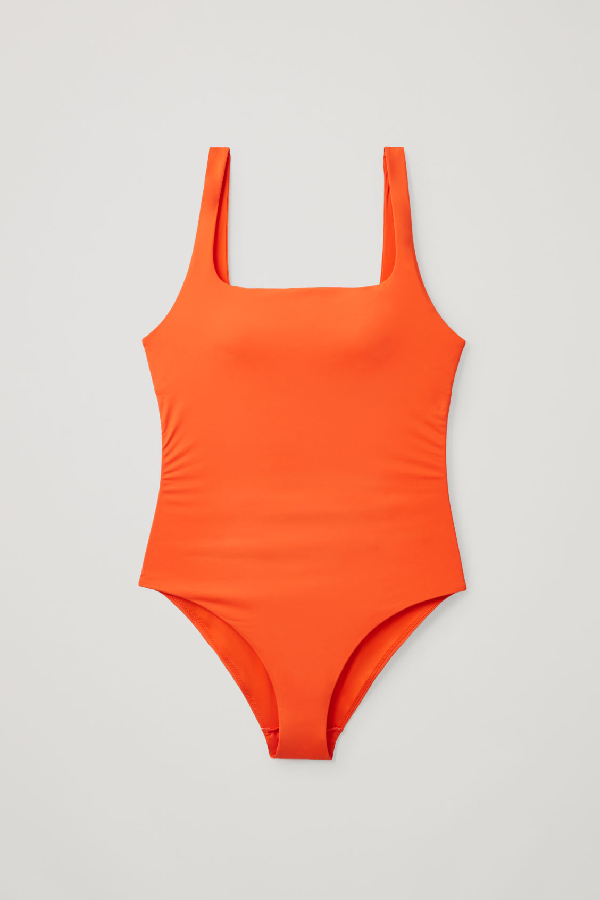 Cos Open-back Swimsuit In Orange