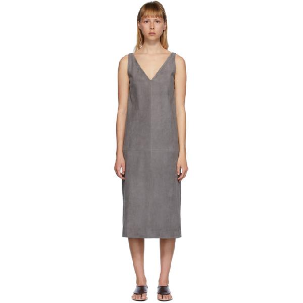 The Row Grey Koya Dress In Stg Stone G