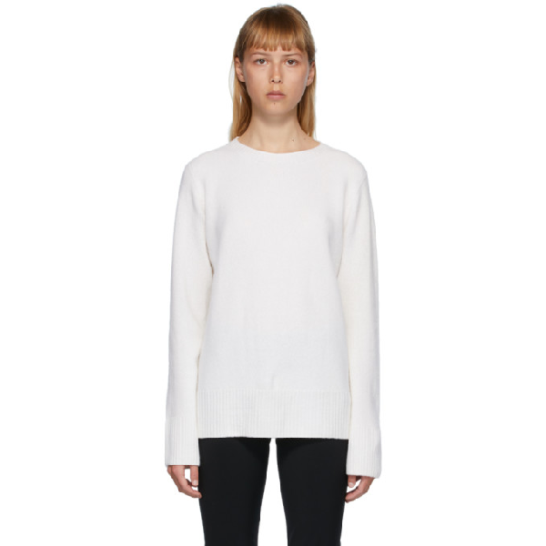 The Row White Sibel Sweater In Wht White