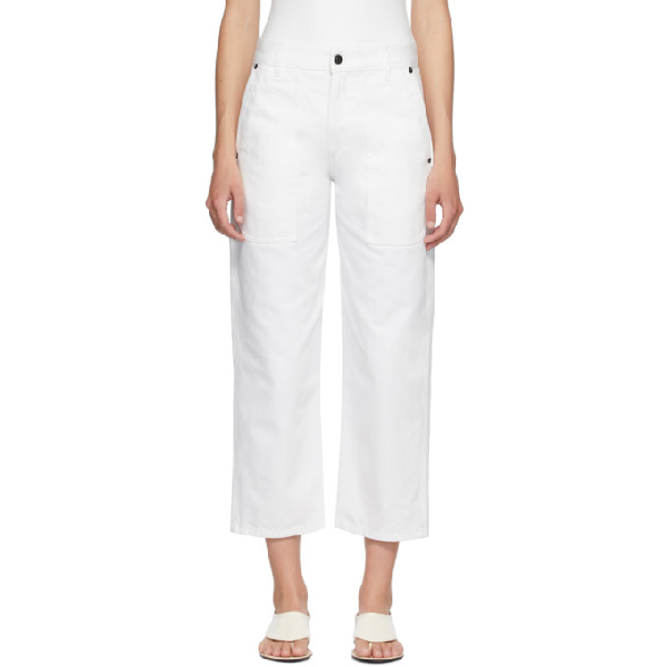 The Row White Hester Jeans In Wht White
