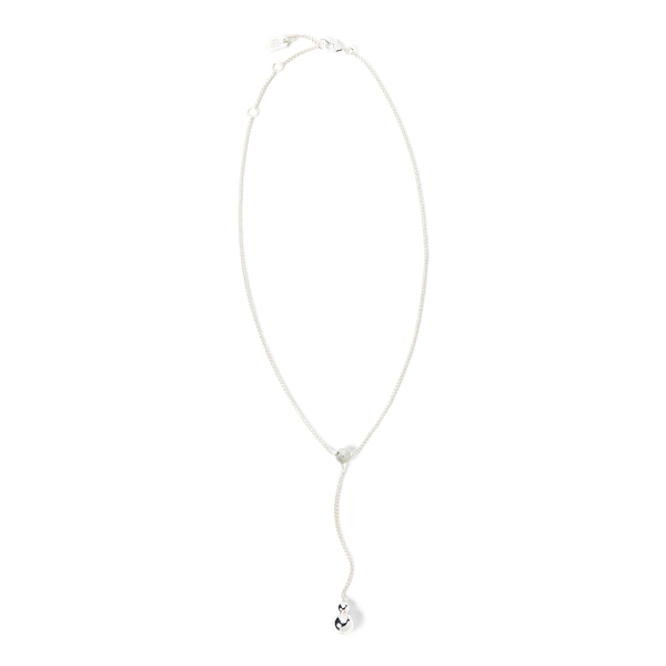 Lauren Ralph Lauren Silver Drop-chain Necklace