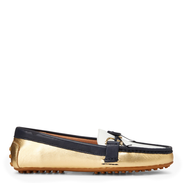 Lauren Ralph Lauren Briley Ii Leather Loafer In Color Block Multi