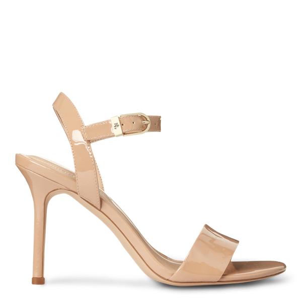 Lauren Ralph Lauren Gwen Patent Leather Sandal In Nude