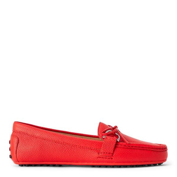 Lauren Ralph Lauren Briley Ii Leather Loafer In Sporting Red