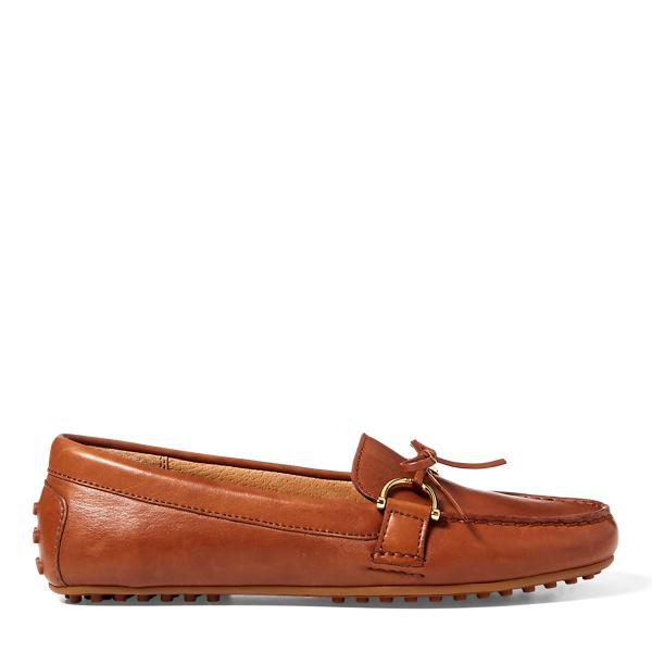 Lauren Ralph Lauren Briley Leather Loafer In Deep Saddle Tan