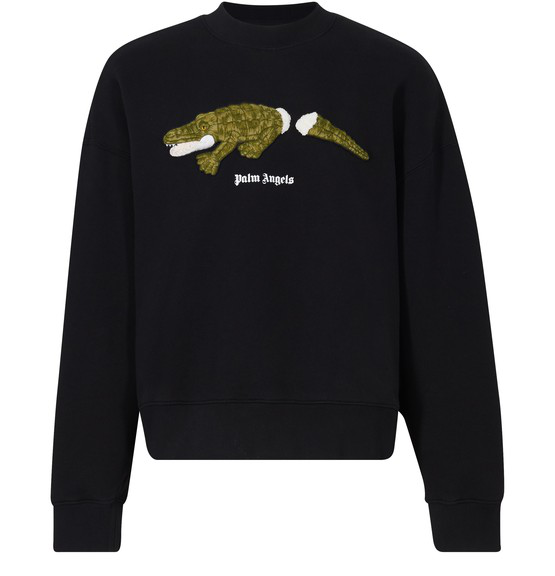 Palm Angels Men's Sweatshirt Sweat  Crocodile In Black