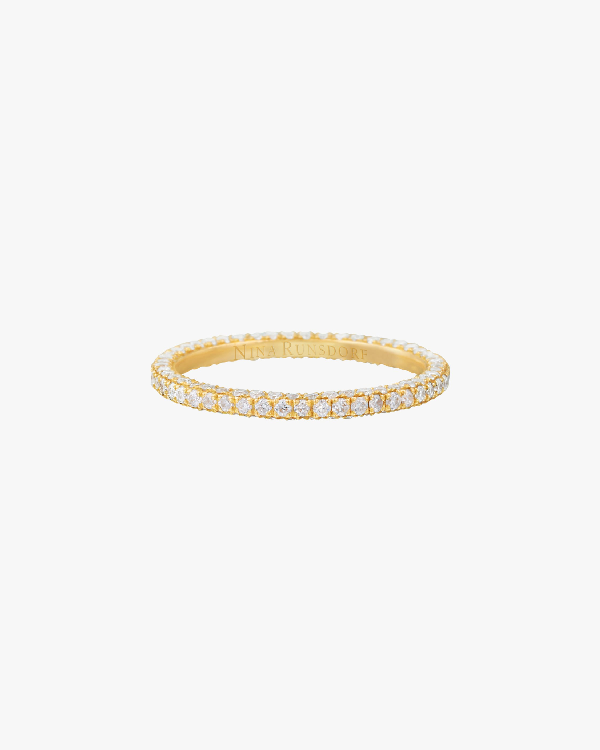 Nina Runsdorf Three-row Eternity Band In Yellow Gold