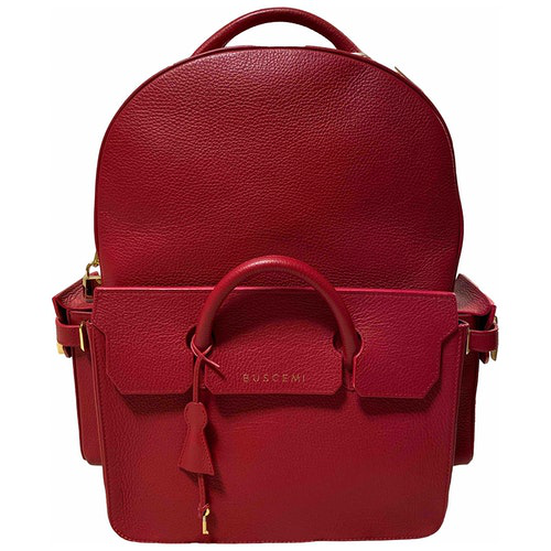 Buscemi Red Leather Backpack