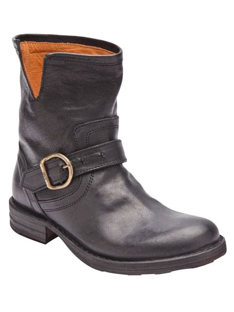 Fiorentini + Baker Leather Ankle Boots With Fur Insole In Black