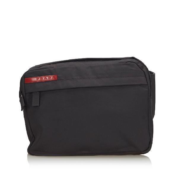Prada Sports Nylon Belt Bag In Black