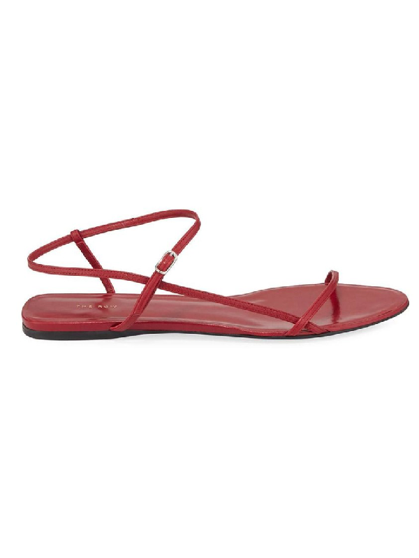 The Row Flat Bare Sandal In Pink