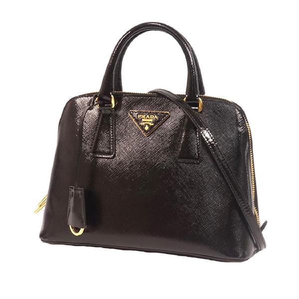 Prada Small Saffiano Leather Lux Promenade Satchel In Black