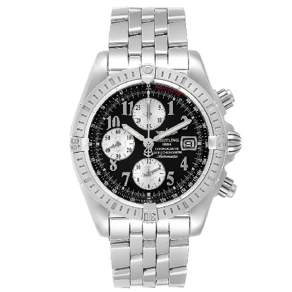 Breitling Chronomat Evolution Steel Black Dial Steel Mens Watch A13356 In Not Applicable