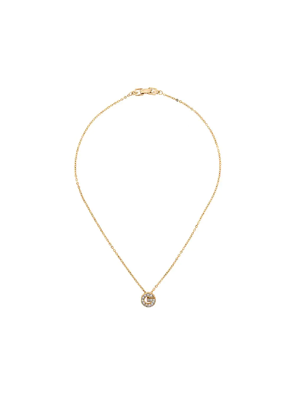 Givenchy 1980s G Logo Necklace In Gold