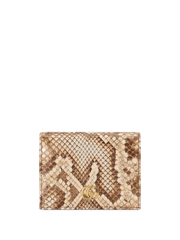 Gucci Gg Marmont Cardholder In Nude