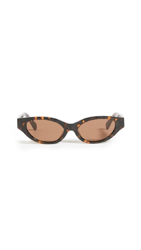 Karen Wazen Glamorous Sunglasses In Tortoise
