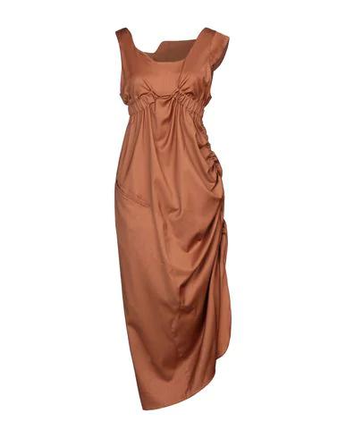 Vejas Midi Dress In Brown