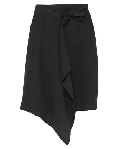Sartorial Monk Midi Skirts In Steel Grey