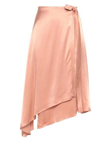 Les HÉroÏnes By Vanessa Cocchiaro Midi Skirts In Pale Pink