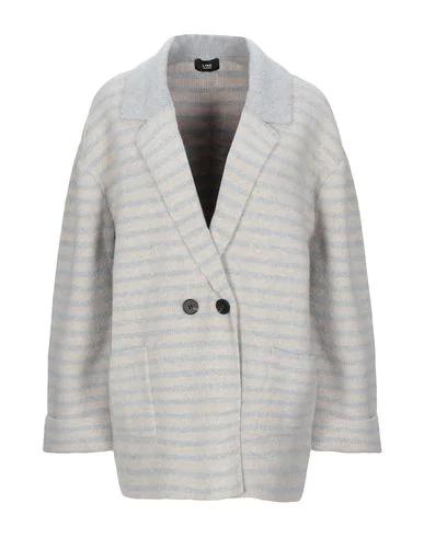 Line Coat In Light Grey